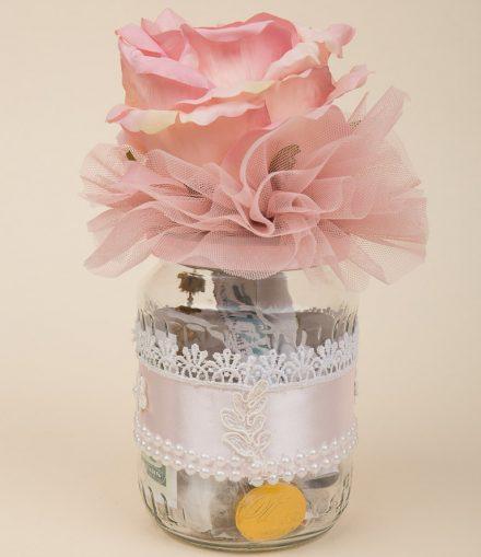Borcan prima baita, roze, trandafir